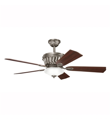 "Kichler 300152AP Dorset 52"" Indoor Ceiling Fan with 5 Blades, Cool-Touch Remote and Downrod"