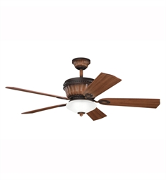 "Kichler 300152MDW Dorset 52"" Indoor Ceiling Fan with 5 Blades, Cool-Touch Remote and Downrod"