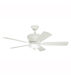 "Kichler 300152SNW Dorset 52"" Indoor Ceiling Fan with 5 Blades, Cool-Touch Remote and Downrod"