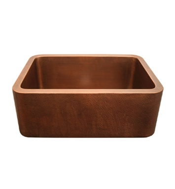 Whitehaus WH2519COFC Copperhaus Rectangular Undermount Sink with Smooth Front Apron