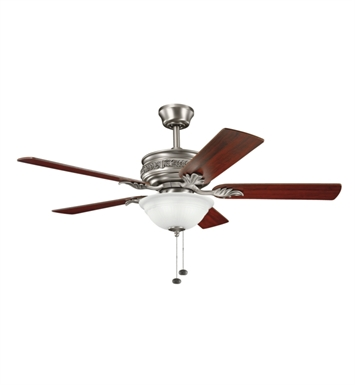"Kichler 300158AP Athens 52"" Indoor Ceiling Fan with 5 Blades and Downrod"