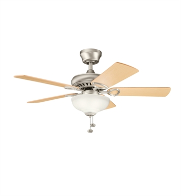 "Kichler 337014NI Sutter Place Select 42"" Indoor Ceiling Fan with 5 Blades and Downrod"