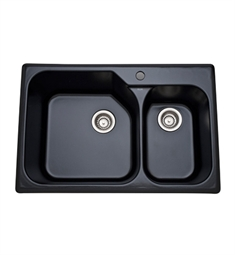 Rohl 6317-63 Allia Fireclay Kitchen Sink in Matte Black