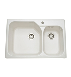 Rohl 6317-68 Allia Fireclay Kitchen Sink in Biscuit