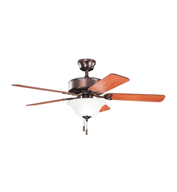 "Kichler 330103OBB Renew Select ES 50"" Indoor Ceiling Fan with 5 Blades and Downrod"