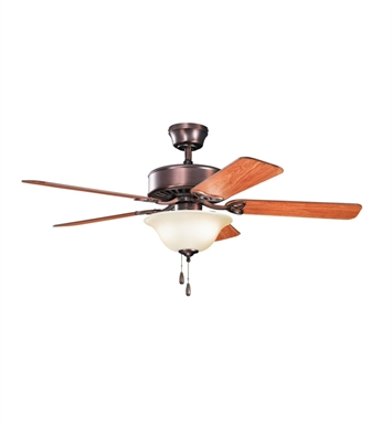 "Kichler 330103OBBU Renew Select ES 50"" Indoor Ceiling Fan with 5 Blades and Downrod"