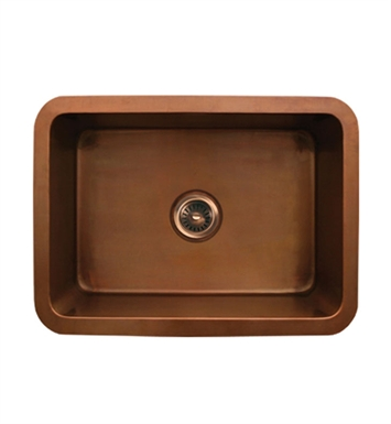 Whitehaus WH2519COUM Copperhaus Rectangular Undermount Sink with Smooth Texture