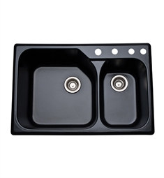 Rohl 6327-63 Allia Fireclay Kitchen Sink in Matte Black