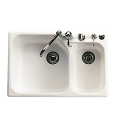 Rohl 6327-68 Allia Fireclay Kitchen Sink in Biscuit