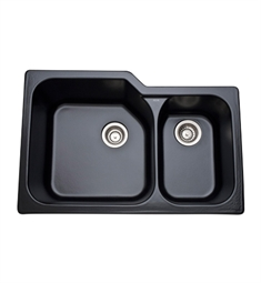 Rohl 6337-63 Allia Undermount Fireclay Kitchen Sink in Matte Black