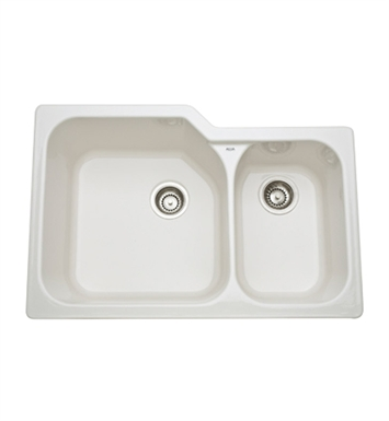 Rohl 6337-68 Allia Undermount Fireclay Kitchen Sink in Biscuit