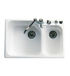 Rohl 6327-00 Allia Fireclay Kitchen Sink in White