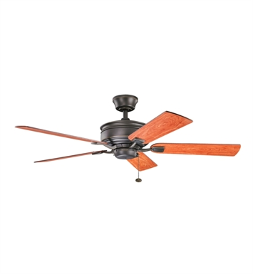 "Kichler 300178OZ Duvall 52"" Indoor Ceiling Fan with 5 Blades and Downrod"