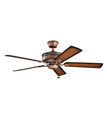 "Kichler 300178MDW Duvall 52"" Indoor Ceiling Fan with 5 Blades and Downrod"