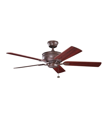 "Kichler 300178TZ Duvall 52"" Indoor Ceiling Fan with 5 Blades and Downrod"
