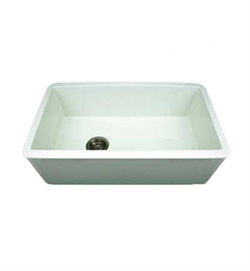 Whitehaus WH3018-BLK Duet Reversible Fireclay Sink with Smooth Front Apron With Finish: Black