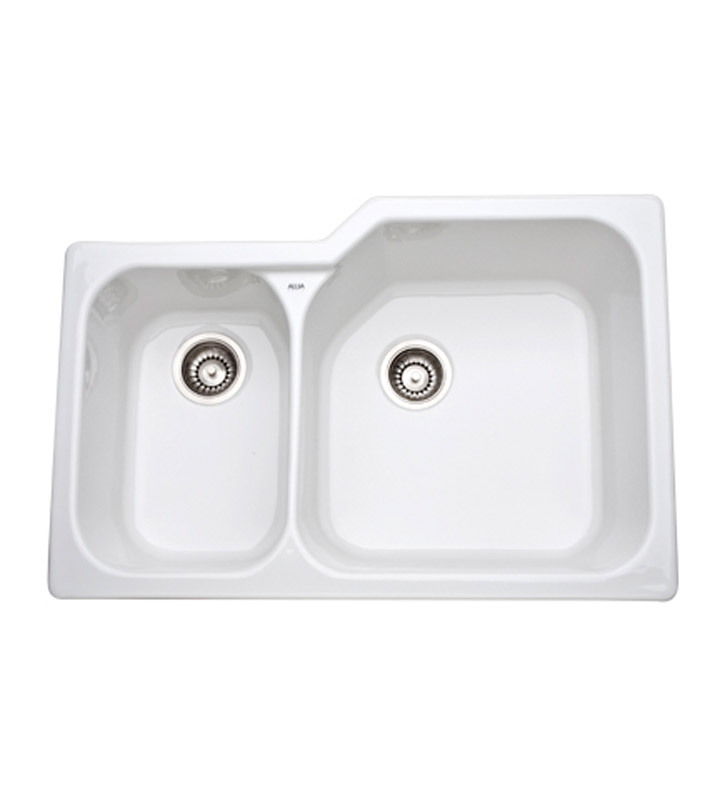Rohl 6339-00 Allia Undermount Fireclay Kitchen Sink in White