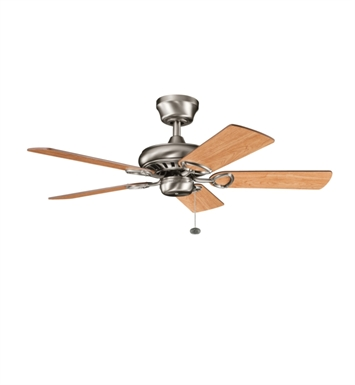 "Kichler 337013AP Sutter Place 42"" Indoor Ceiling Fan with 5 Blades and Downrod"