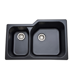 Rohl 6339-63 Allia Undermount Fireclay Kitchen Sink in Matte Black