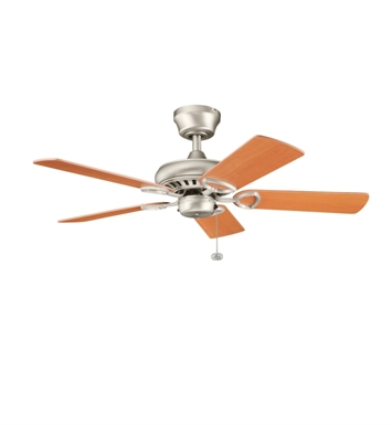 "Kichler 337013NI Sutter Place 42"" Indoor Ceiling Fan with 5 Blades and Downrod"