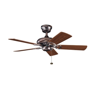 "Kichler 337013OBB Sutter Place 42"" Indoor Ceiling Fan with 5 Blades and Downrod"