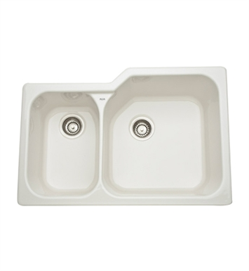 Rohl 6339-68 Allia Undermount Fireclay Kitchen Sink in Biscuit