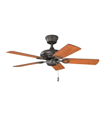 "Kichler 337013OZ Sutter Place 42"" Indoor Ceiling Fan with 5 Blades and Downrod"
