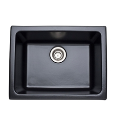 Rohl 6347-63 Allia Undermount Or Laundry Fireclay Kitchen Sink in Matte Black