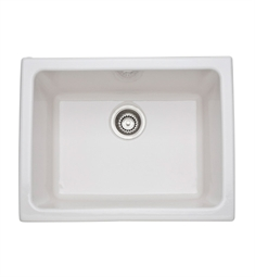 Rohl 6347-68 Allia Undermount Or Laundry Fireclay Kitchen Sink in Biscuit