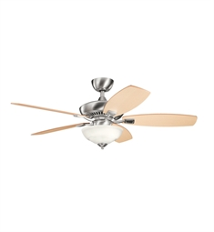 "Kichler 337016BSS Canfield Pro 52"" Indoor Ceiling Fan with 5 Blades, Cool-Touch Remote and Downrod"