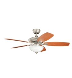 "Kichler 337016NI Canfield Pro 52"" Indoor Ceiling Fan with 5 Blades, Cool-Touch Remote and Downrod"
