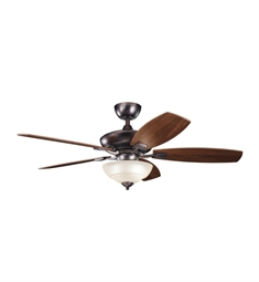 "Kichler 337016OBB Canfield Pro 52"" Indoor Ceiling Fan with 5 Blades, Cool-Touch Remote and Downrod"