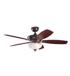 "Kichler 337016TZ Canfield Pro 52"" Indoor Ceiling Fan with 5 Blades, Cool-Touch Remote and Downrod"