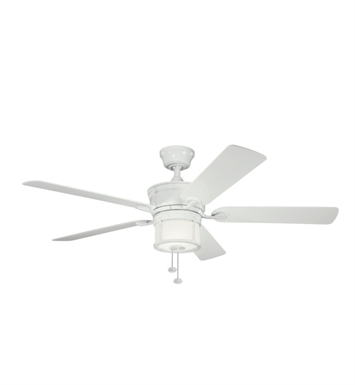 "Kichler 310105WH Deckard 52"" Indoor Ceiling Fan with 5 Blades, Light Kit and Downrod"