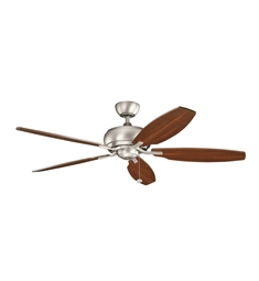 "Kichler 300105NI Whitmore 60"" Indoor Ceiling Fan with 5 Blades and Downrod"
