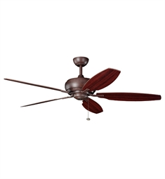"Kichler 300105TZ Whitmore 60"" Indoor Ceiling Fan with 5 Blades and Downrod"