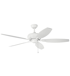 "Kichler 300105WH Whitmore 60"" Indoor Ceiling Fan with 5 Blades and Downrod"
