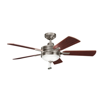 "Kichler 300148AP Logan 52"" Indoor Ceiling Fan with 5 Blades, Light Kit and Downrod"