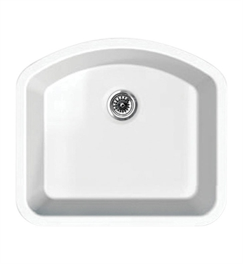 Whitehaus WHE2421D Elementhaus Single Bowl (D-BOWL) Undermount Sink with 3 ½ inch Rear Center Drain.