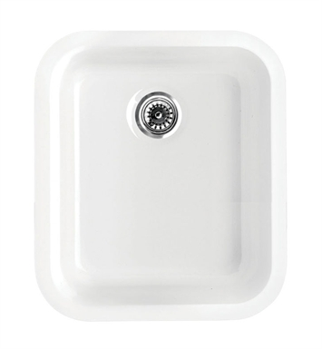 Whitehaus WHE1822 Elementhaus Rectangle Drop-in/Undermount Sink with 3 ½ inch Rear Center Drain