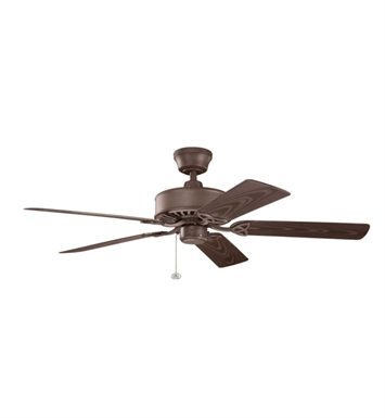 "Kichler 339515TZP Renew Patio 52"" Outdoor Ceiling Fan with 5 Blades and Downrod"