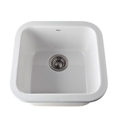 Rohl 5927-00 Allia Undermount Fireclay Kitchen Sink in White