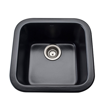 Rohl 5927-63 Allia Undermount Fireclay Kitchen Sink in Matte Black