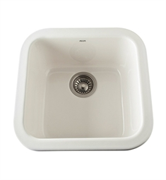 Rohl 5927-68 Allia Undermount Fireclay Kitchen Sink in Biscuit