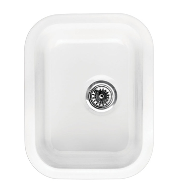 Whitehaus WHE1418 Elementhaus Rectangle Drop-in/Undermount Sink with 3 ½ inch Off Center Drain