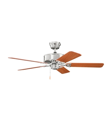 "Kichler 330100BSS Renew 50"" Indoor Ceiling Fan with 5 Blades and Downrod"