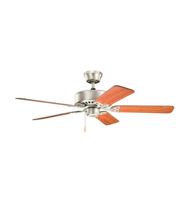 "Kichler 330100NI Renew 50"" Indoor Ceiling Fan with 5 Blades and Downrod"