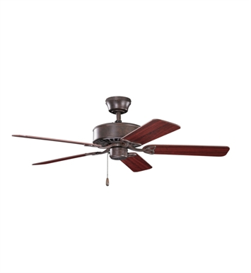 "Kichler 330100TZ Renew 50"" Indoor Ceiling Fan with 5 Blades and Downrod"