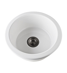 Rohl 6737-00 Allia Undermount Fireclay Kitchen Sink in White