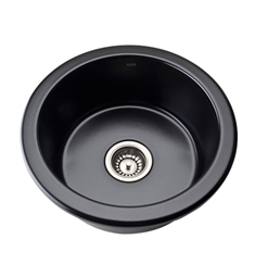 Rohl 6737-63 Allia Undermount Fireclay Kitchen Sink in Matte Black